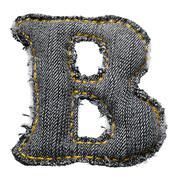 handmade letter of jeans alphabet - stock photo