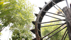 Water wheel  for agricultural baler Stock Footage