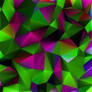 Shiny geometric in purple green color. EPS 8 - stock illustration