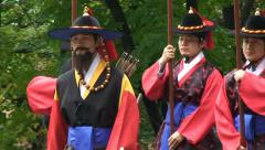 Seoul Namsan mountain Guard change. Stock Footage