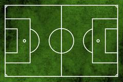 Football or soccer field - stock photo