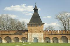 Kremlin wall with tower in Tula. Russia Stock Photos