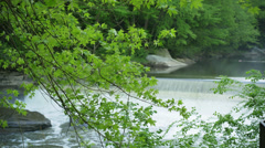 4K Waterfall at McConnells Mill State Park 4359 Stock Footage