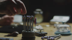 Stock video footage watchmaker at work 4k 1 Stock Footage