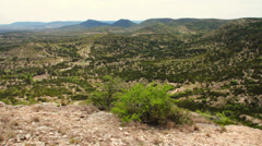 Hill Country State Natural Area View from Twin Peaks Hiking Trail Stock Footage