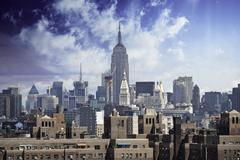 Storm approaching New York City Stock Photos