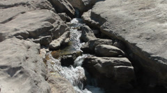 Water Rushing through Rock channel Stock Footage