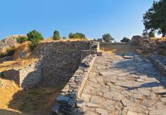 Ancient ruins in Troy Turkey - stock photo