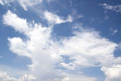White tiny cloud on blue sky as background Stock Photos
