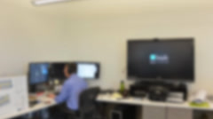 360 Blur of Interior of Office Building Stock Footage