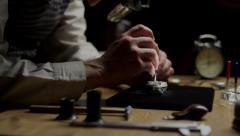 Stock video footage watchmaker at work 4k 3 Stock Footage