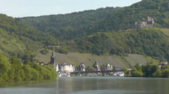 View onto Bernkastel-Kues, Germany Stock Footage