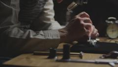 Stock video footage watchmaker at work 4k 4 - stock footage