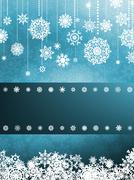 Blue background with snowflakes. EPS 8 Stock Illustration