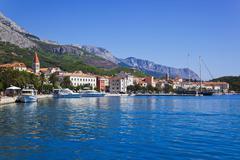 Town Makarska in Croatia - stock photo