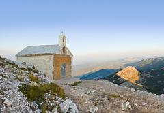 Old church in mountains at Biokovo, Croatia - stock photo