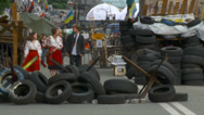Stock Video Footage of Maidan clashes commemoration 09
