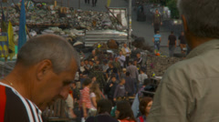 Maidan clashes commemoration 10 - stock footage