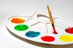 paint colors pallete - stock photo
