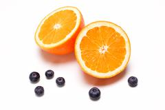Orange and blueberry Stock Photos