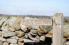 Public Footpath Signpost - stock photo