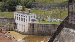 Dos Bocas dam and hydroelectric plant. 2 of 4 Stock Footage
