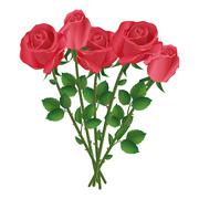 Celebration bouquet of red roses Stock Illustration