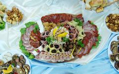 Cold cut platter - stock photo