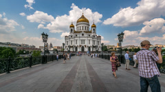Cathedral of Christ the Saviour,  Moscow, Timelapse Video Stock Footage