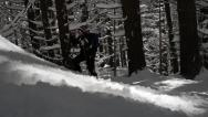 Stock Video Footage of Outdoor Hiker Snow Winter Mountain Surviving Adversity Concept