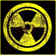 caution radioactive - stock illustration