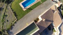 Luxus Finca with Pool Flyover - Aerial Flight, Mallorca Stock Footage