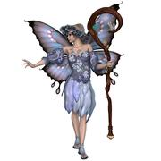 winter fairy - stock illustration