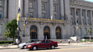 Stock Video Footage of Main Entrance of San Francisco City Hall.  California, USA.