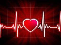 Heart beating monitor. EPS 8 Piirros