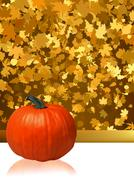 Composition for Thanksgiving invitation. EPS 8 Stock Illustration