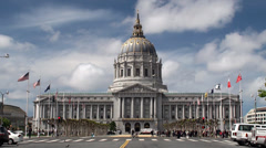 San Francisco City Hall.  California, USA. Stock Footage