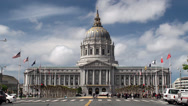 Stock Video Footage of San Francisco City Hall.  California, USA.