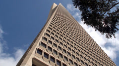 Transamerica Pyramid. San Francisco, California, USA. Stock Footage