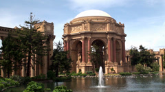 View on Palace of Fine Arts. San Francisco, California, USA. Stock Footage