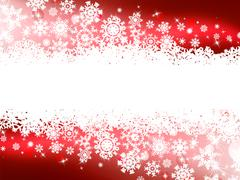 Stock Illustration of Red winter background & snowflakes. EPS 8
