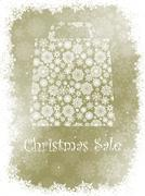 Snowflake gift bag on elegant background. EPS 8 - stock illustration