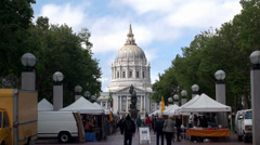 San Francisco City Hall & Street market. California, USA. Stock Footage