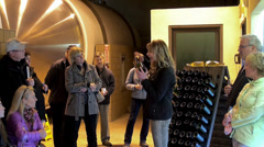 Tour and Testing sparkling wine at the 'Domaine Chandon ' winery. Stock Footage