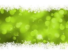 Background, green magic lights, bokeh. EPS 8 - stock illustration