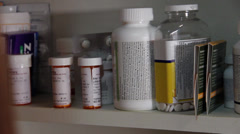 Drugs in cabinet 3 Stock Footage