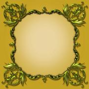 Elegant Victorian Photoframe Stock Photos