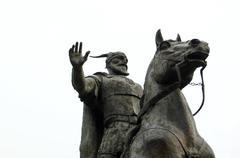 Monument of skenderbeg in skopje,macedonia - stock photo