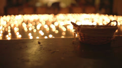 Night of Churches, with burning candles in the background - stock footage