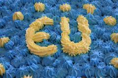 eu birthday cake - stock photo